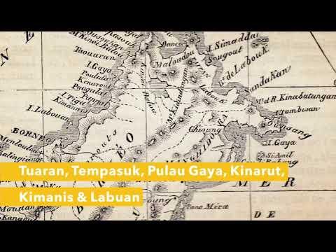 "Carte de Borneo Map Borneo "" journal of thje society of arts "" 28 mars 1884"