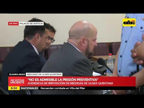 El diputado Ulises Quintana se entrega