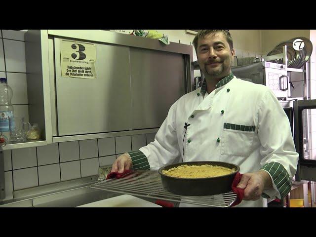 Kürbiskuchen mit Mandel und Sahne   Rezeptempfehlung Topfgucker-TV