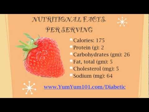 Diabetic Recipes | Rhubarb Pie & Strawberry Surprise