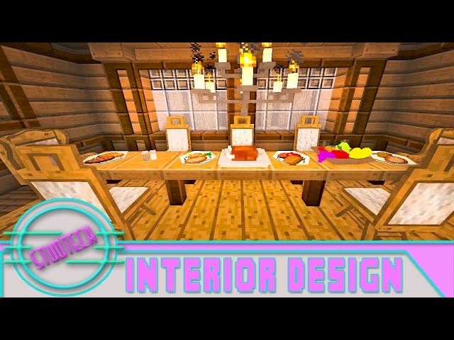 how to build a dining room table in minecraft - decor