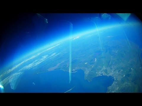 Посадка в аэропорту Симферополь. Вид из штурманской кабины Ту-134. - DomaVideo.Ru