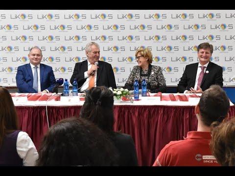 Návštěva prezidenta ČR Miloše Zemana ve firmě LIKO-S (26. 1. 2016)