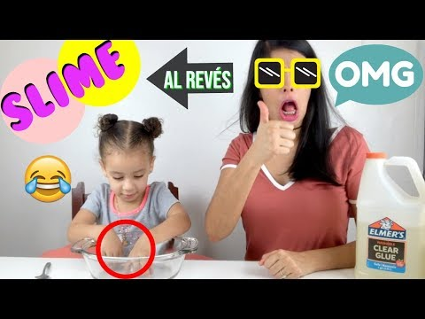 SLIME Al REVÉS ⏪| Backwards SLIME Challenge Ft. ANDY HILARIO