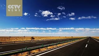 Bayannur China  city photo : World's longest desert highway links Beijing to Urumqi
