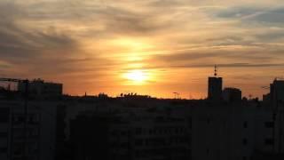 Time lapse Casablanca sun set