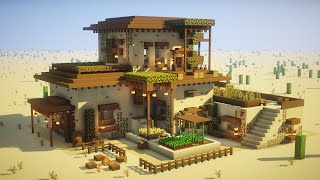 Minecraft: How to Build a Large Desert House Tutorial (EPIC)