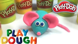 Play Doh - How to make MOUSE With Play Dough - Learning Colours