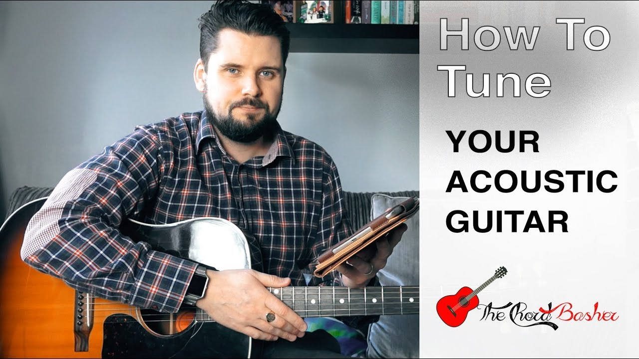 How To Tune An Acoustic Guitar Without A Tuner // How To Tune Your Guitar  // 5th Fret Method by Ear
