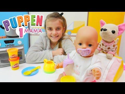 Spielspaß mit Ayça - Das Baby hat Hunger - Wir füttern Ayças kleine Puppe-#PuppenMama