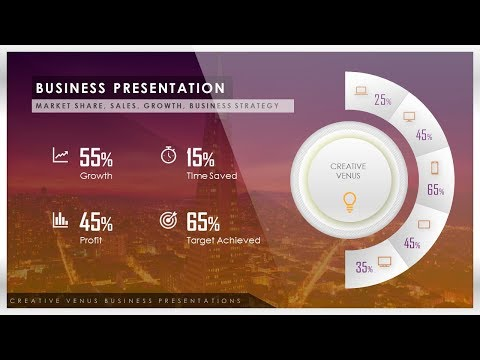 How To Create Market Share, Sales, Data, Stats Presentation Infographic in Microsoft PowerPoint PPT