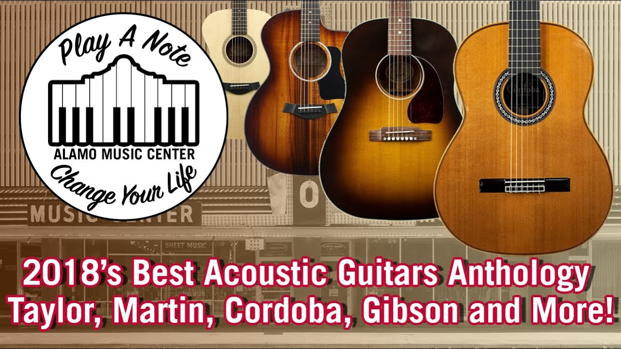 2018's Best Acoustic Guitar Anthology! Taylor, Martin, Ovation, Breedlove, Gibson and More!