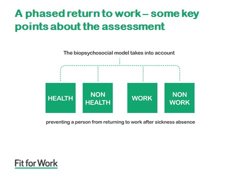 Fit for Work and the phased return to work
