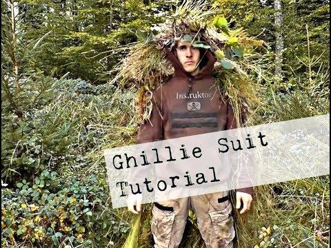 Ghillie Suit selber bauen/  Tarnanzug / Tarnung im Wald,  Günstig und schnell!