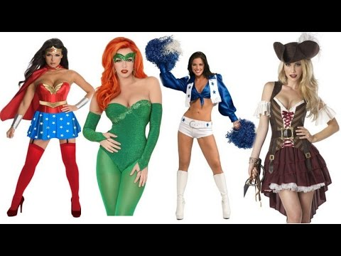 Easy Sexy Adult Halloween Costume Ideas For Women: Wonder Woman, Poison Ivy, Pirate, Cheerleader