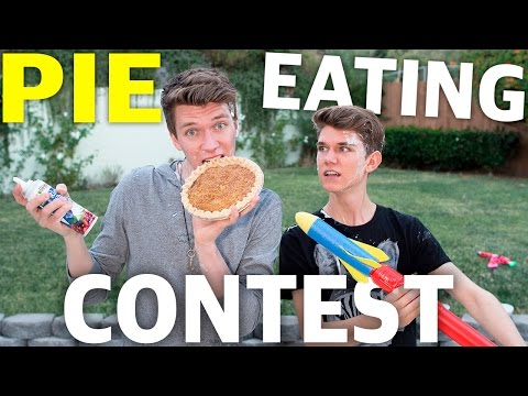 PIE EATING CONTEST #2 | Collins Key & Devan