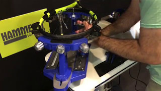 In this video, Daniel Dodson, Creator of HammerIt Tennis, shows you how to string a tennis racquet on an electronic stringing machine.  Coach Daniel uses the two-piece method in this how-to guide.  Be sure to watch for special expert tips and tie-off knots that will help give you a consistent and quality string job!