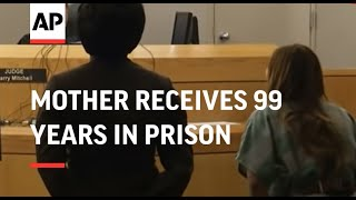 Mother receives 99 years in prison for gluing child's hands together