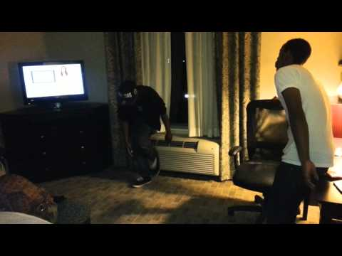lil buck freestyling - Just having fun at the hotel labbing to some good music by Damien Marley - Loaf of Bread.