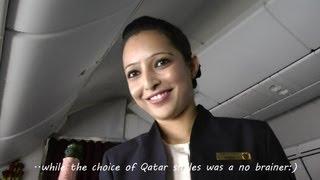 Inside Qatar Airways Boeing 787 Dreamliner Business Class Full Flight Doha-Frankfurt in HD