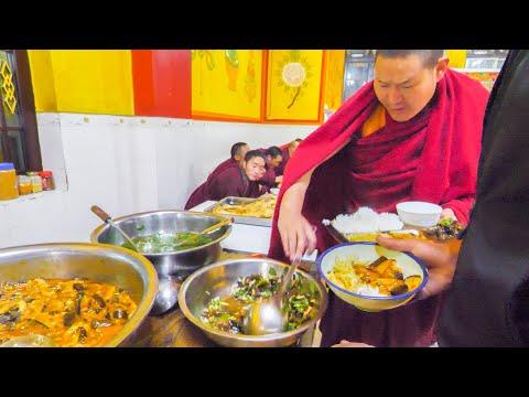 TIBETAN CHINESE Street Food Tour in REMOTE China! YAK SASHIMI, TEMPLE FOOD,  UNKNOWN Street Foods