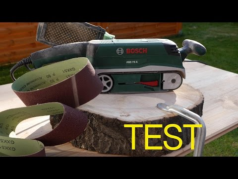 Bandschleifer Bosch PBS 75A im Test