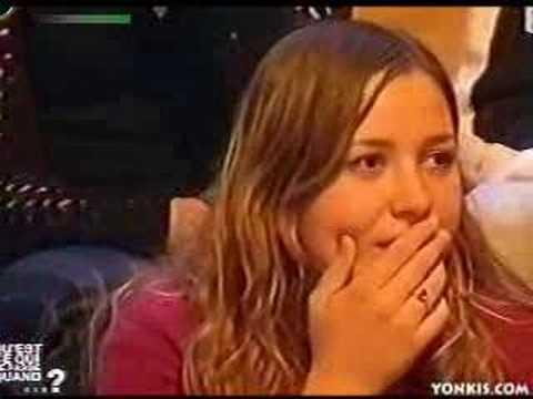 Upskirt on TV show