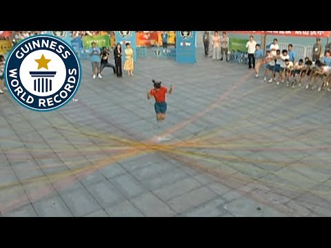 Chinese School Girl Set Guinness World Record for Jumping Over 110 Individual Skipping