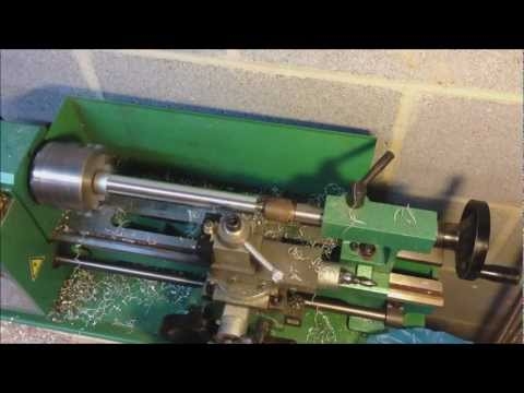 Silencer - Making a home made silencer part 2. Using my lathe I turn the future suppressor mono core to the right diameter and turn down the end caps to prepare them fo...