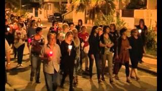 Fiaccolata per Tatiana - запаленими свічками для Тетяни