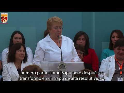 Alcalde Carlos Cuadrado Prats recibió a la Presidenta de la República y destacó junto a ella los avances en salud alcanzados por la comuna.