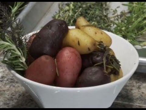humphries - Chef Todd Humphries of Napa's Kitchen Door, demonstrates how to make versatile, slow-cooked mixed marble potatoes. He gently simmers the potatoes with rosema...