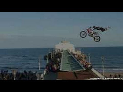 Motocross Rider Dan Whitby First To Jump Bournemouth Pier