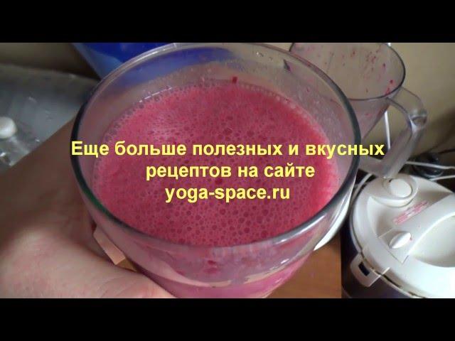 Молочный коктейль с кокосовым молоком и вишней для сыроедов и веганов.