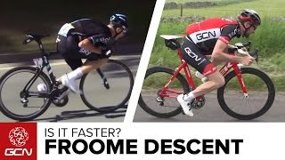 Video Pedalling On Your Top Tube - Is It Faster To Descend Like Chris Froome? GCN Does Science MP3, 3GP, MP4, WEBM, AVI, FLV Juli 2017