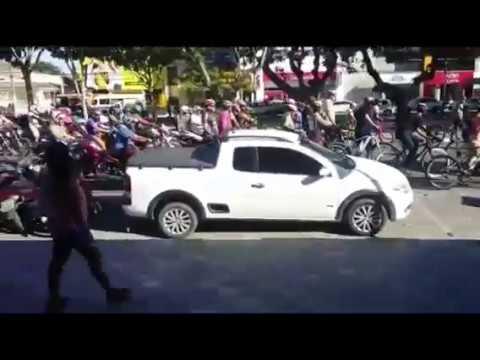 Ciclistas protestam após morte de atleta em Feira