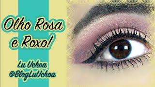 Olho Rosa e Roxo super fofo!