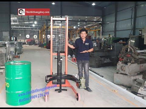Hướng dẫn sử dụng xe nâng quay đổ thùng phuy Lh 0909 216 299
