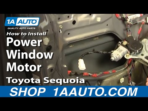 How To Install Replace Power Window Motor Toyota Sequoia 01-04 1AAuto.com