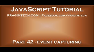 JavaScript event capturing