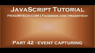 JavaScript event capturing