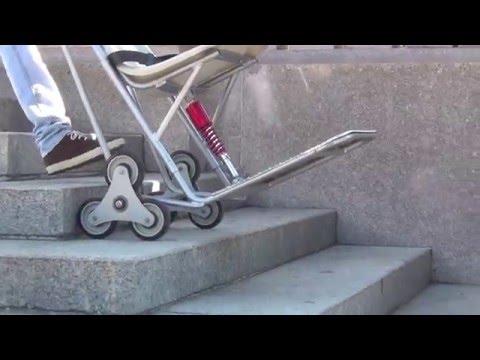 Carretillas sube escaleras videos videos relacionados for Silla sube escaleras manual