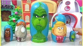 Video Dr. Suess THE GRINCH Nesting Dolls Matryoshka with Cindy Lou, Young Grinch, Fred & Max the Dog MP3, 3GP, MP4, WEBM, AVI, FLV November 2018