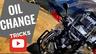 3. Motorcycle Oil Change Tip or Trick Yamaha Super Tenere
