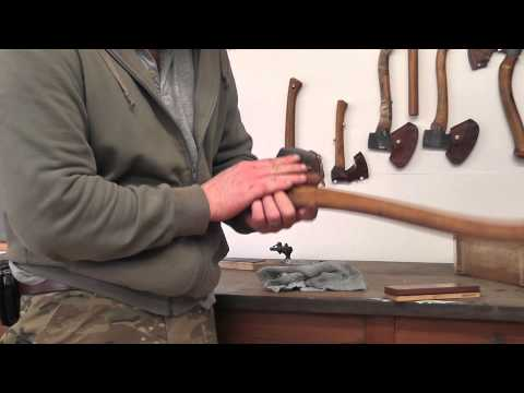 How to sharpen an axe with Ben Orford