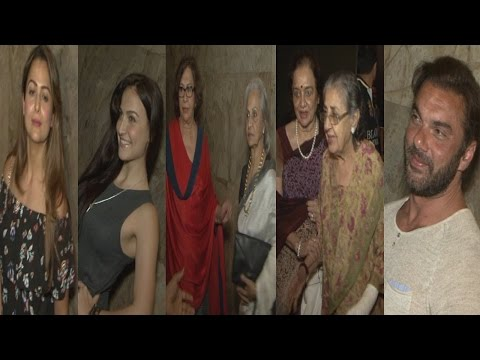 Sohail Khan, Waheeda Rehman, Tabu At Special Screening Of Film Bajrangi Bhaijaan