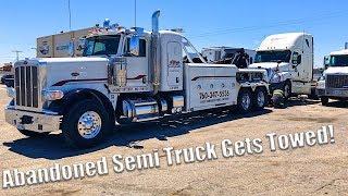 Video Abandoned Semi Truck Gets Towed MP3, 3GP, MP4, WEBM, AVI, FLV Agustus 2018