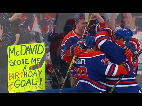 Video: McDavid gets his luckiest goal of the season