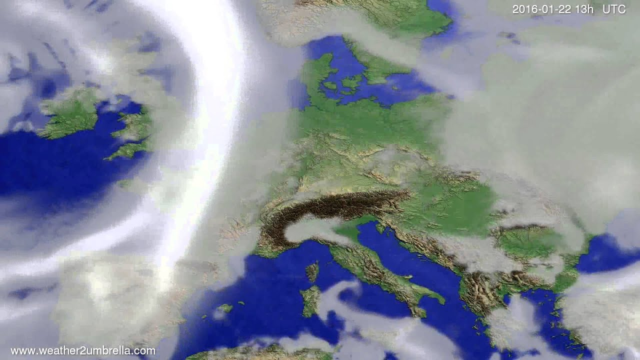 Cloud forecast Europe 2016-01-19