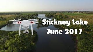 Phantom 3 Standard 2.7K Drone Video Footage of Stickney Lake, South Dakota.